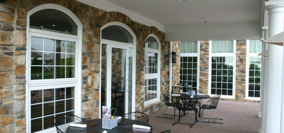 curve top, grilles, patio