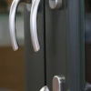 Tilt & Turn Door - choose interior handles only or Balcony Hardware with deadbolt + exterior handle - available in white, black or brushed nickel finishes (shown here; Tokyo handles, Balcony Hardware, Brushed Nickel)