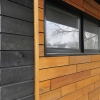 transitional modern reno included black frame awning windows