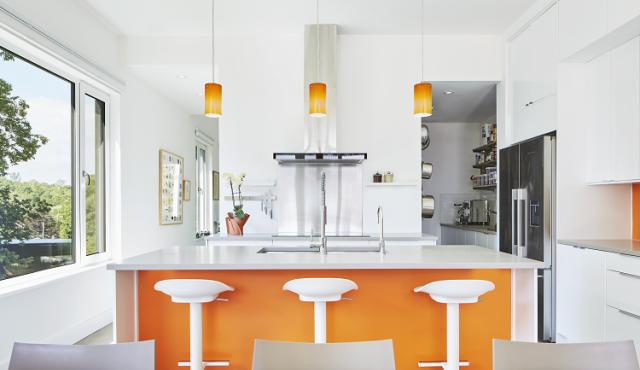 Solares Architecture - kitchen interior with white tilt&turn windows